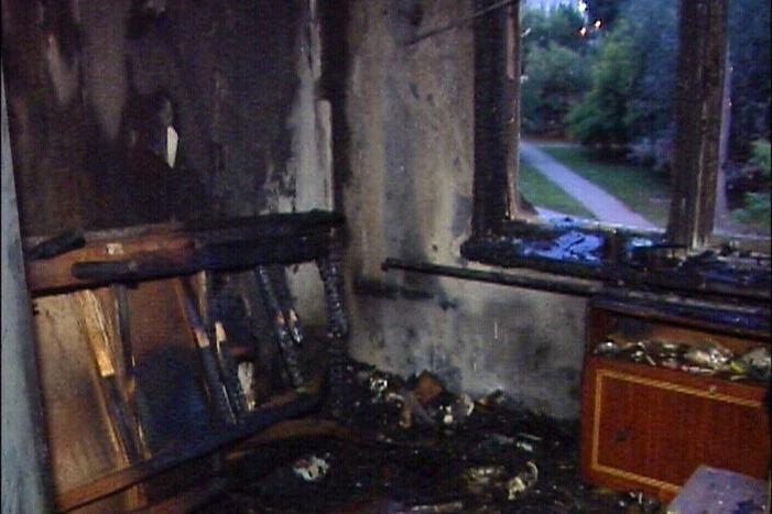 При пожаре на Опалихинской дымом отравились два человека и кот
