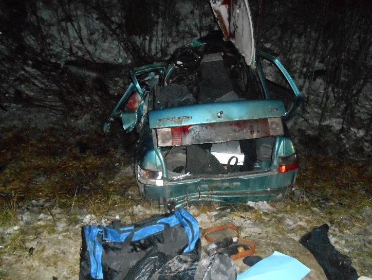 Водитель иномарки выжил в лобовом столкновении на Серовском тракте