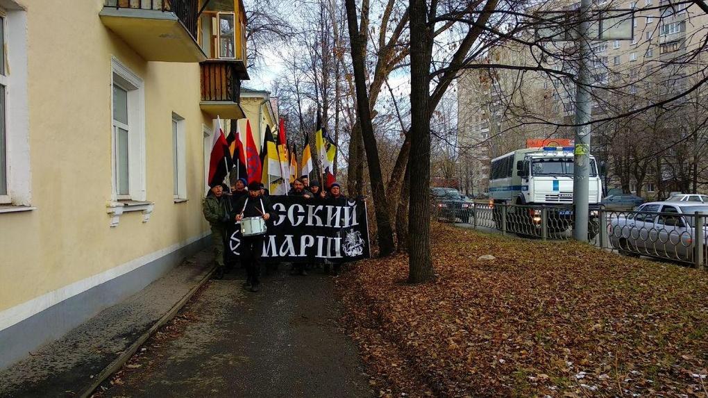 Милиция непропустила баннеры организаторов «Русского марша»