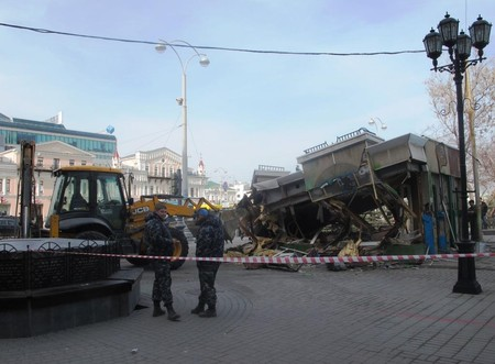 В центре улицы Вайнера снесли киоск