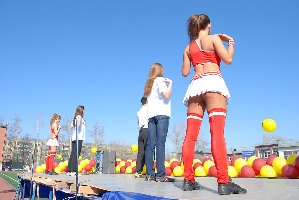 Студенты вышли на старт и приняли участие в флешмобе