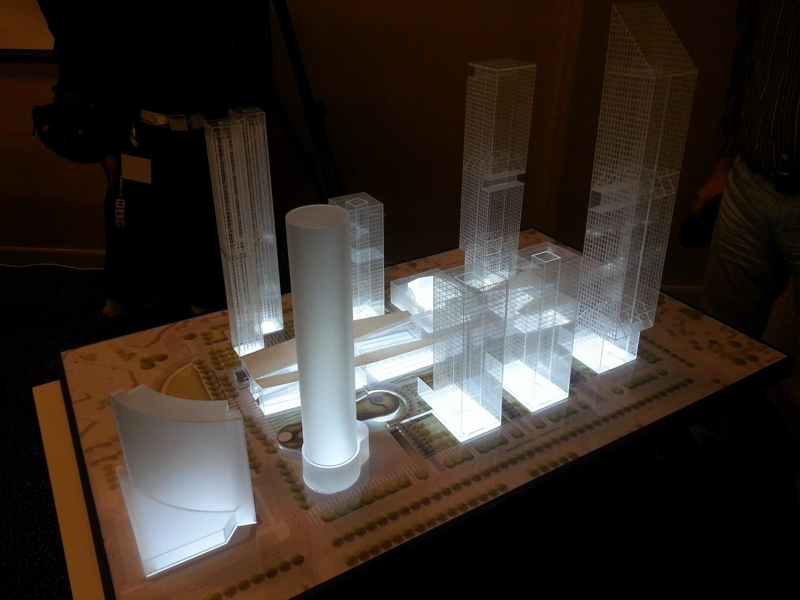 УГМК пристроит к башне «Исеть» еще четыре небоскреба