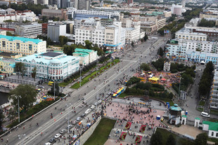 9 главных улиц Екатеринбурга перекроют в День города