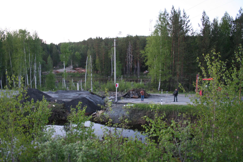 В обвале дороги Екатеринбург — Нижний Тагил виноваты бобры