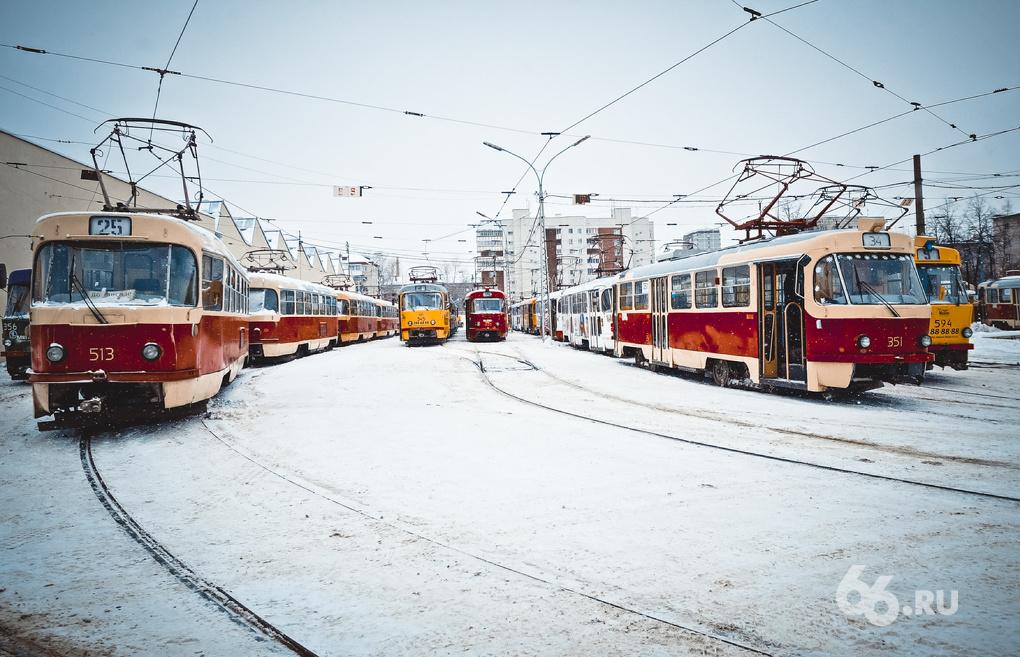 Старые чешские трамваи Екатеринбурга утеплили