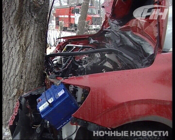 На Химмаше водитель Chevrolet врезался в дерево и погиб