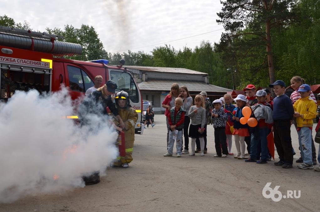 Школьники потушили пожар в ЦПКиО