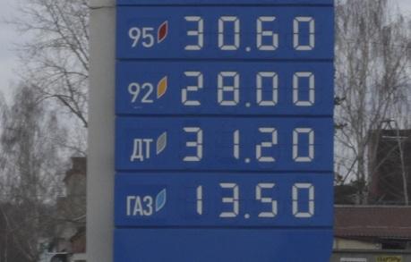 Мониторинг 66.ru: за первый квартал сильнее всего подорожал АИ-92