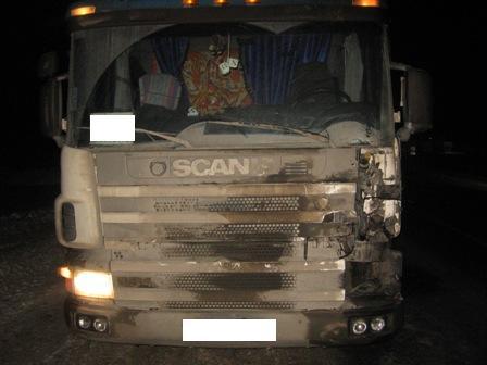 На Московском тракте грузовик Scania сбил пешехода