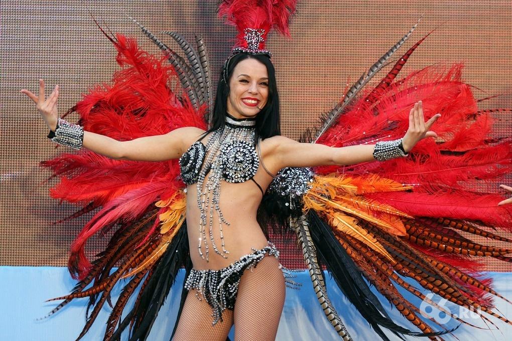В фан-зоне ЦПКиО показали бразильский карнавал
