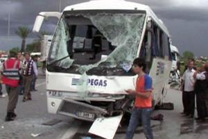 Двенадцать россиян пострадали в ДТП в Турции