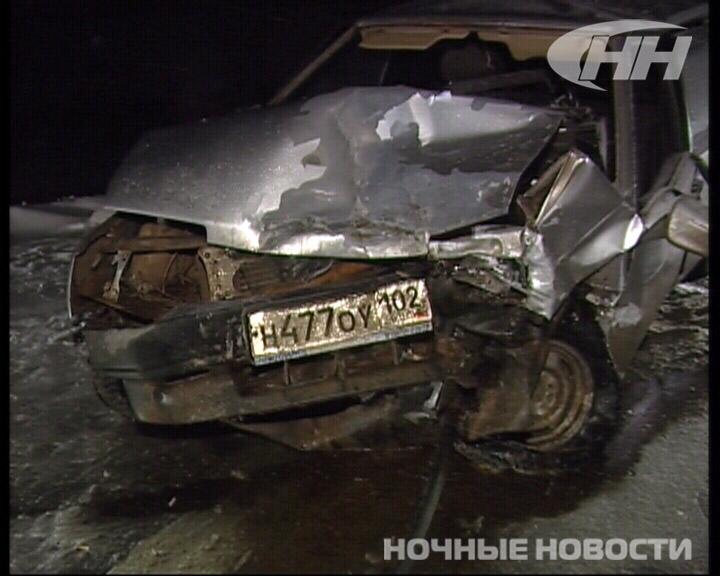 На Полевском тракте «девятка» вылетела в лоб Volkswagen