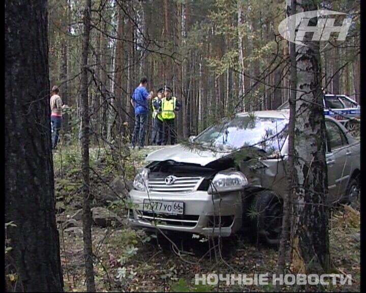 Под Екатеринбургом Toyota улетела в кювет