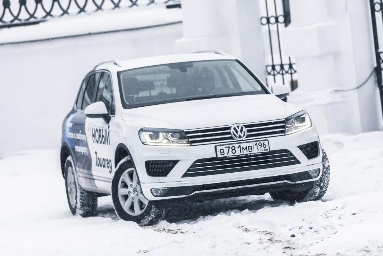 Тонкая ретушь: первая встреча с Volkswagen Touareg 2015 года