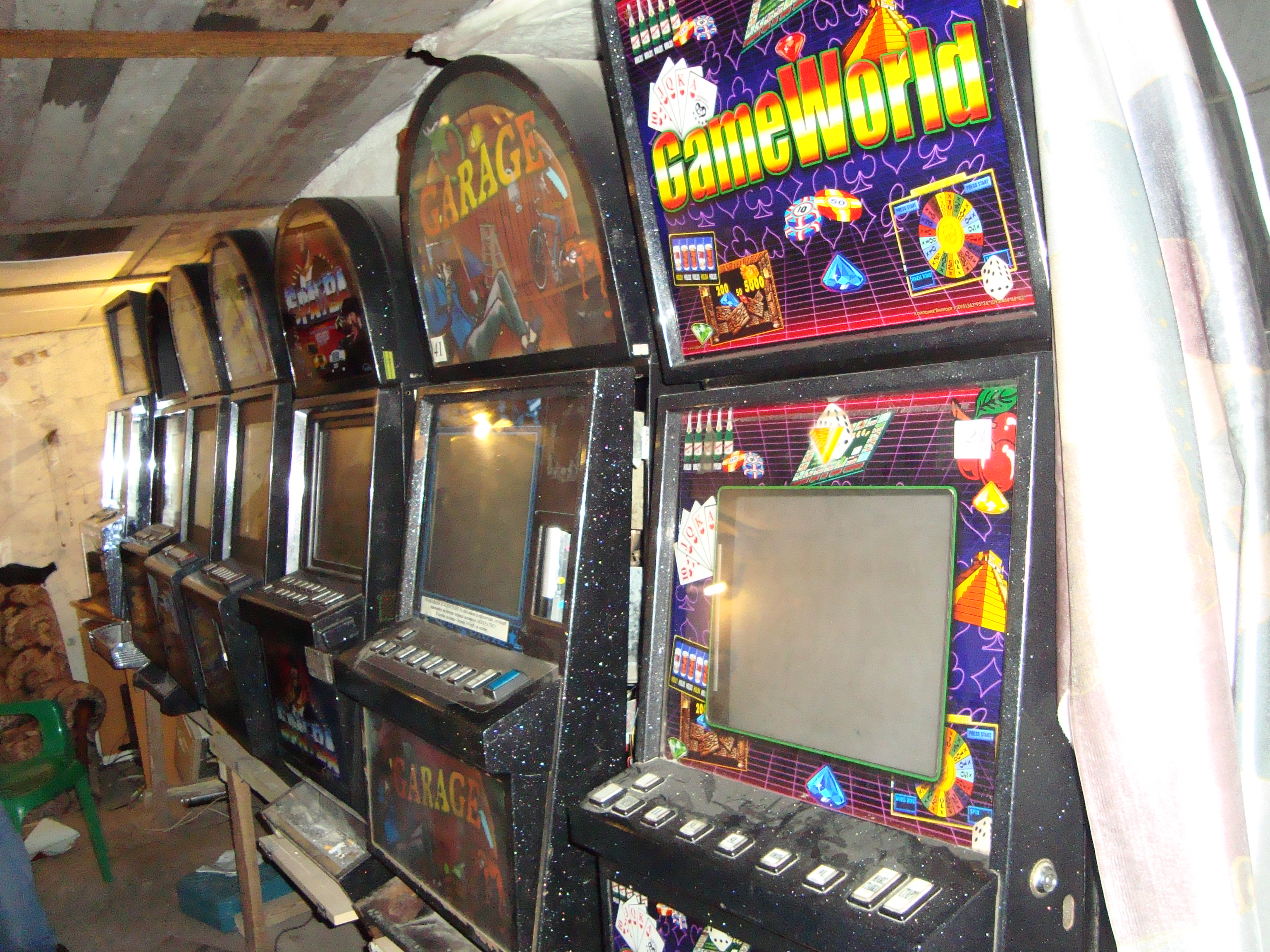 Тагильчанин открыл казино в гараже