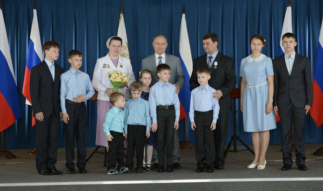 Ирбитская семья получила награду от Путина за 10 детей