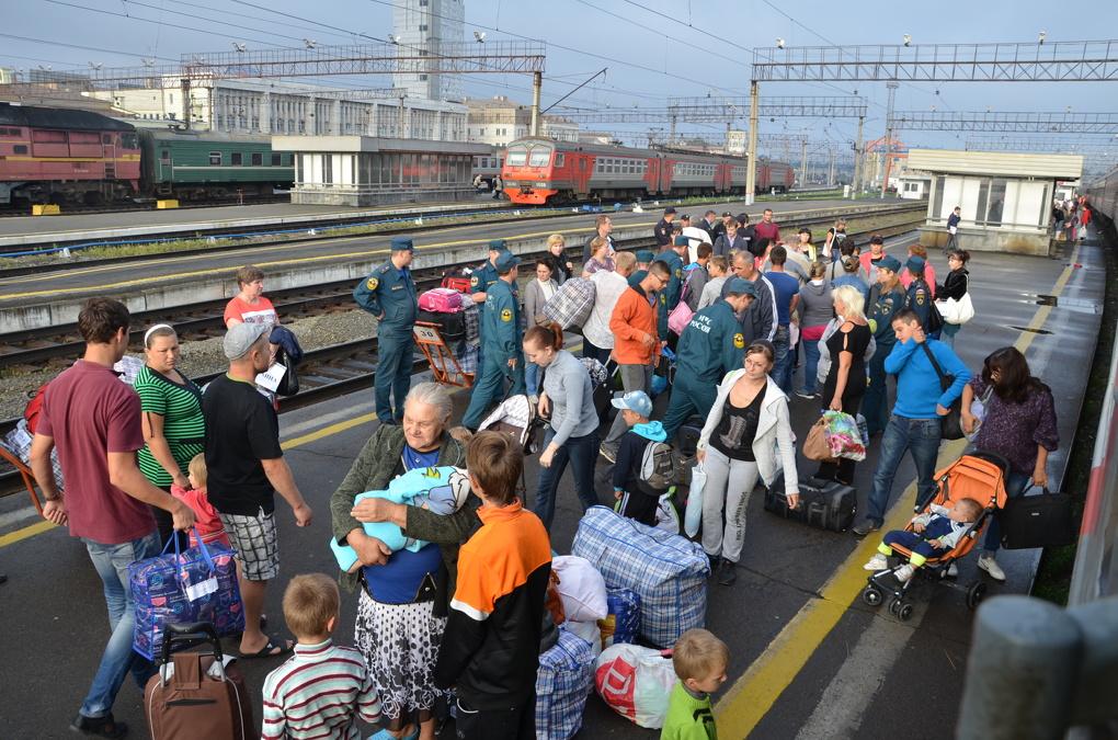 В Екатеринбург прибыли еще 65 беженцев с Украины
