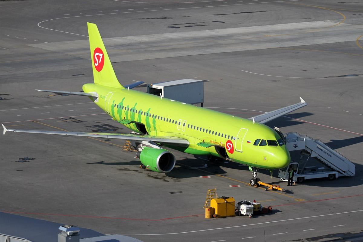 Сломавшийся самолет S7 застрял в Кольцово из-за отсутствия запчастей