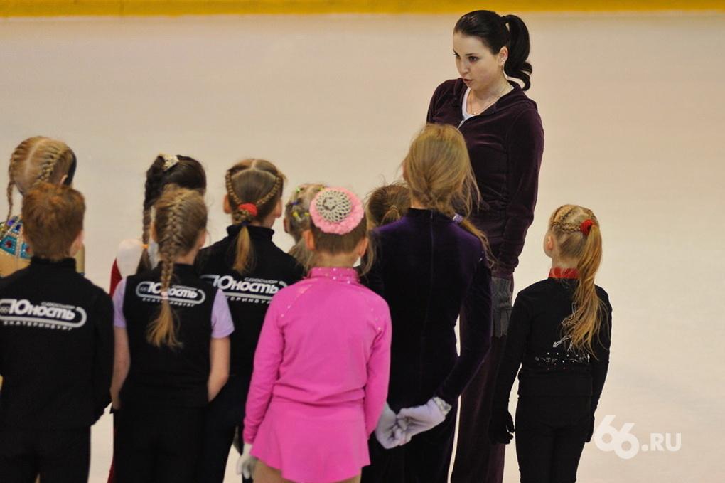 Ирина Слуцкая вышла на лед с малышами