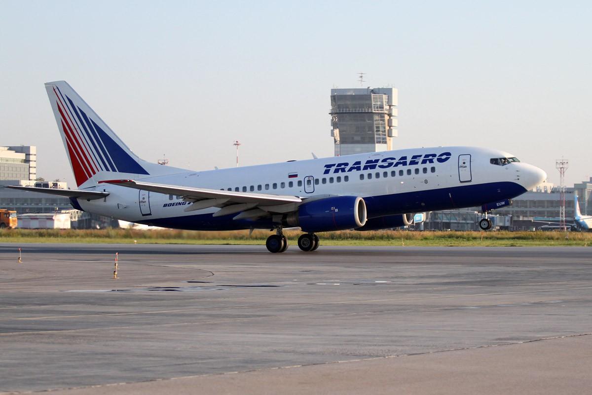 В Кольцово при посадке задымился самолет