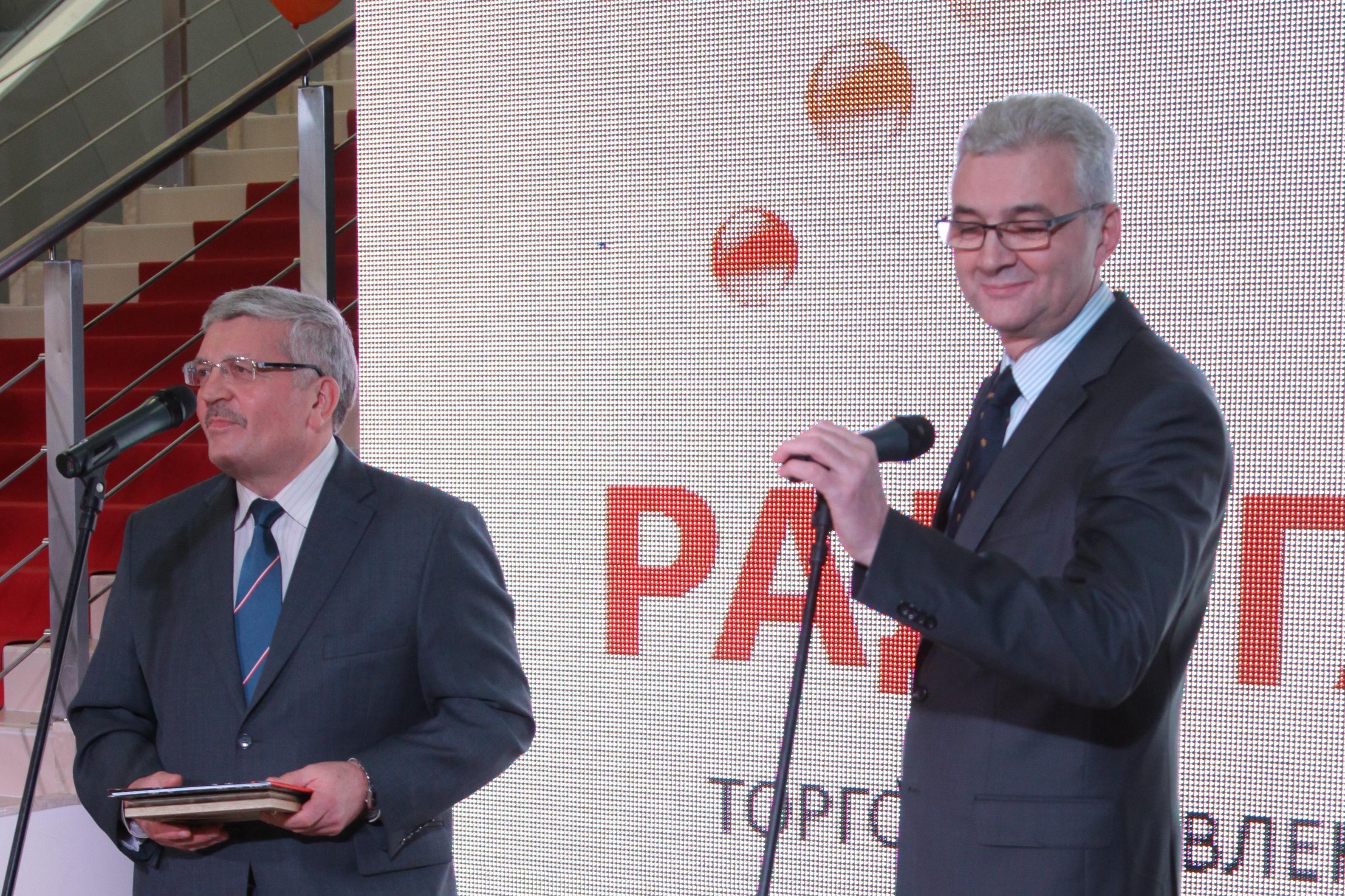 Якоб и Порунов открыли «Радуга-парк» вместе с Дедом Морозом