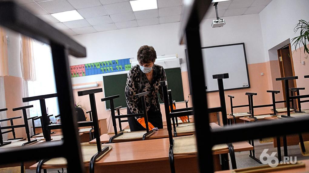 Классы в школах Екатеринбурга начали переводить на дистант