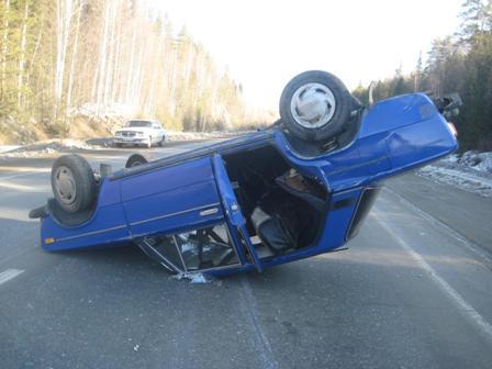На Серовском тракте «шестерка» врезалась в пешехода и перевернулась