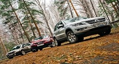 Volkswagen Tiguan, Nissan Qashqai, Skoda Yeti: три богатырька