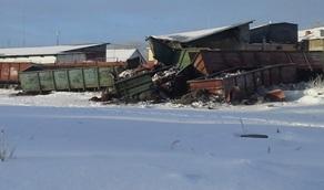 В Каменске-Уральском сошли с рельсов семь вагонов с бокситом
