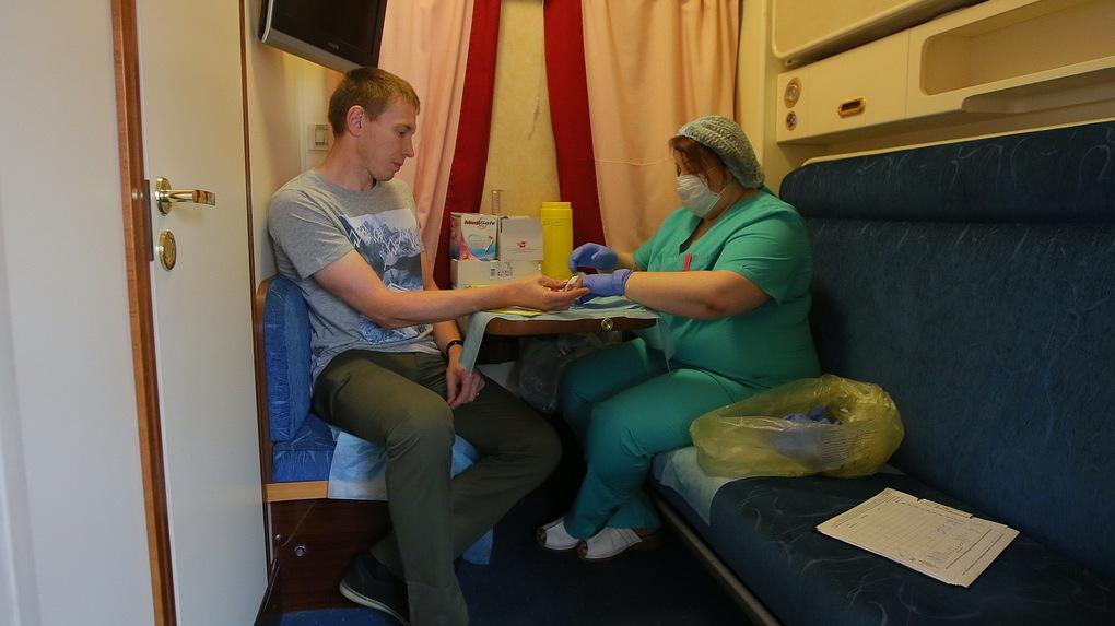 ВТюмени ВИЧ-поезд выявил 12 человек свирусом иммунодефицита